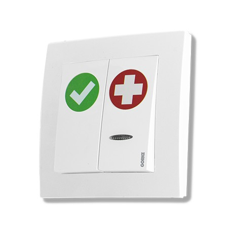 SPR-PK2/AK/ZAS, przycisk alarm+kasownik, 12V DC