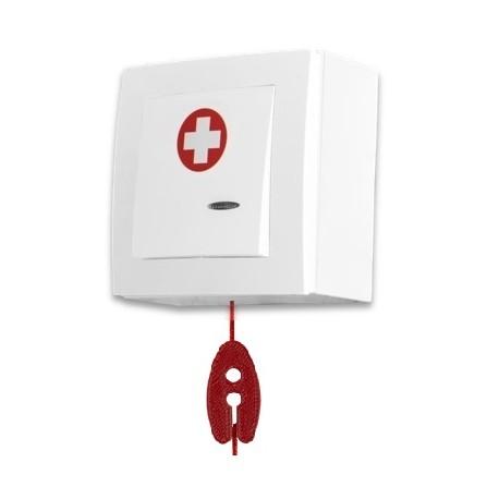SPR-PK1C/AAK/BAT, przycisk alarm+linka, z kasowaniem, bateria