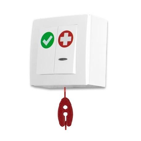 SPR-PK2C/AKA/BAT, przycisk alarm+kasownik+linka, bateryjny
